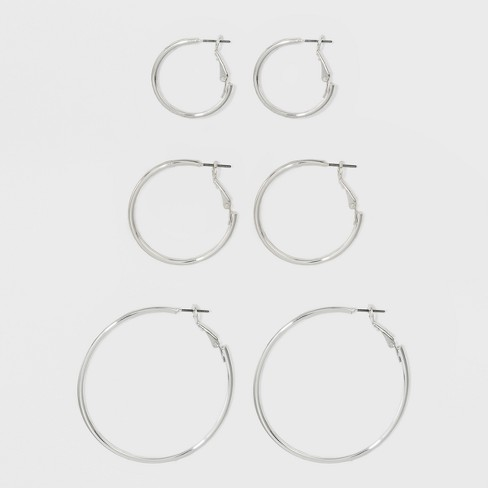 Hoop Earring Set 3ct - A New Day™ - image 1 of 1