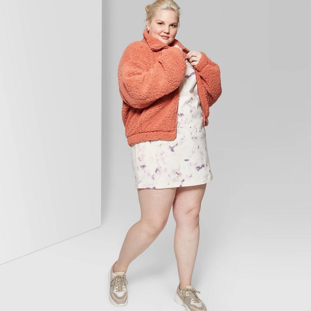 Women's Plus Size Short Sleeve Crewneck T-Shirt Dress - Wild Fable Ivory 3X, White