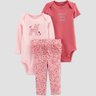 Baby Girls' Deer Top & Bottom Set - Just One You® made by carter's Pink 3M