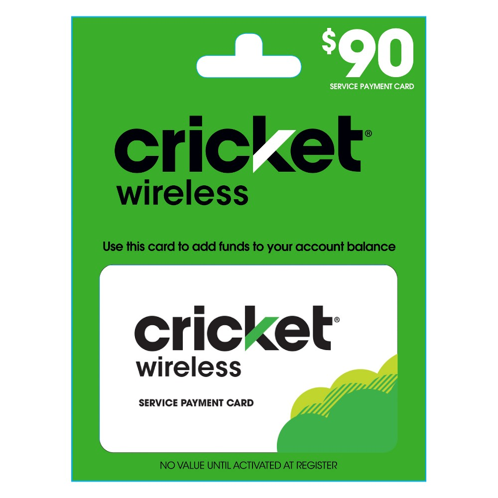 Cricket Wireless Refill $90 (Email Delivery)