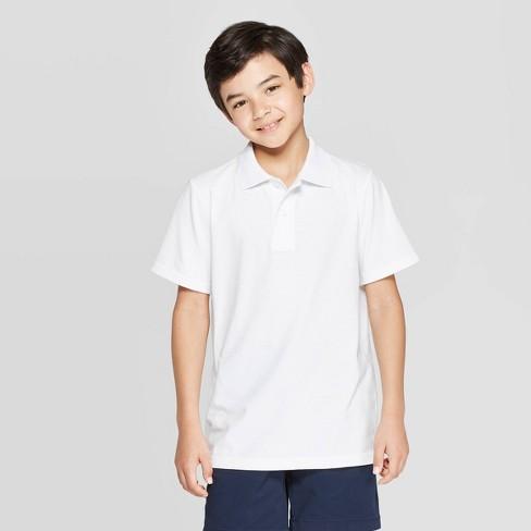 Boys' Uniform Short Sleeve Jersey Polo Shirt - Cat & Jack™ - image 1 of 3