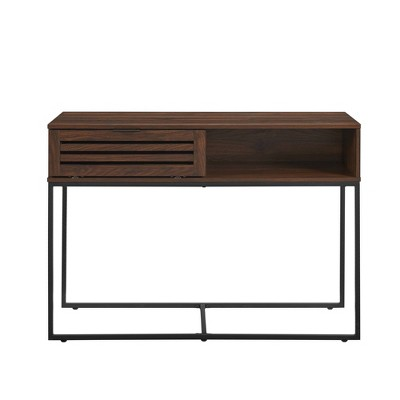 "42"" Modern Slat Door Entry Table - Saracina Home"