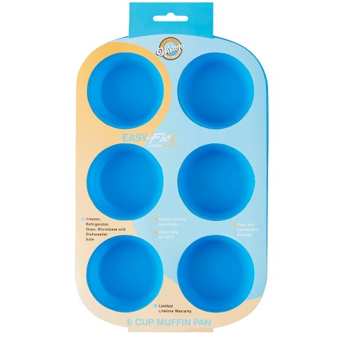 Wilton 6 Cup Easy-Flex Silicone Muffin & Cupcake Pan - image 1 of 4
