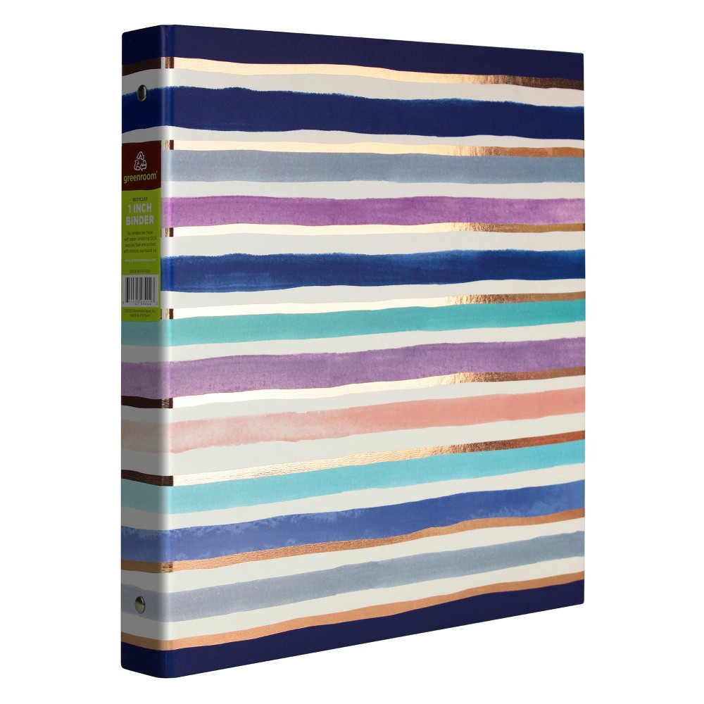 "Image of ""1"""" Ring Binder Thin Stripes - greenroom"""