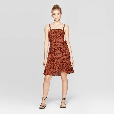 view Women's Animal Print Sleeveless Square Neck Side-Tie Dress - Xhilaration Brown on target.com. Opens in a new tab.