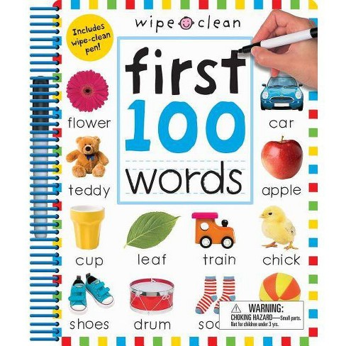 First 100 Words : Includes Wipe-clean Pen -  Expanded by Priddy Books (Paperback) - image 1 of 1