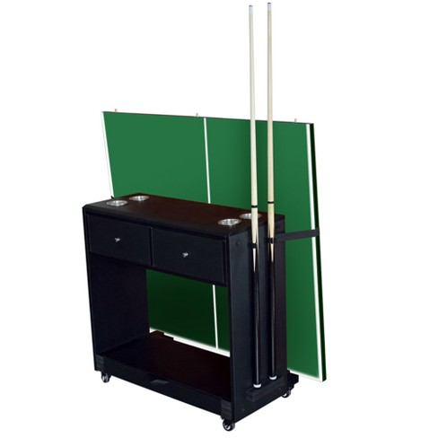 Hathaway Multi-Purpose Game Room Caddy - Black - image 1 of 11