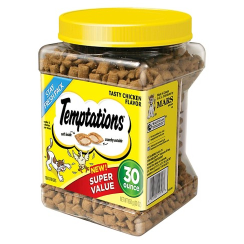 TEMPTATIONS Classic Treats for Cats Tasty Chicken 30 ozs - image 1 of 5