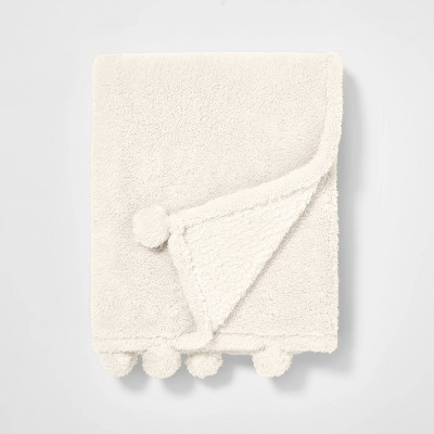 Teddy Bear Plush Throw Cream - Pillowfort™