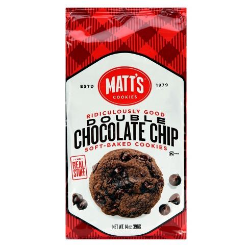 Matt S Double Chocolate Chip Soft Baked Cookies 14oz