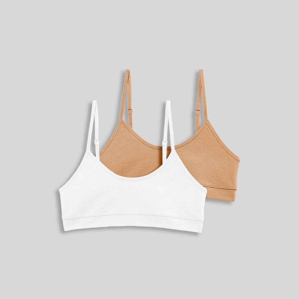 Jockey Generation 8482 Girls 39 Cotton Stretch Bralette Nude White M