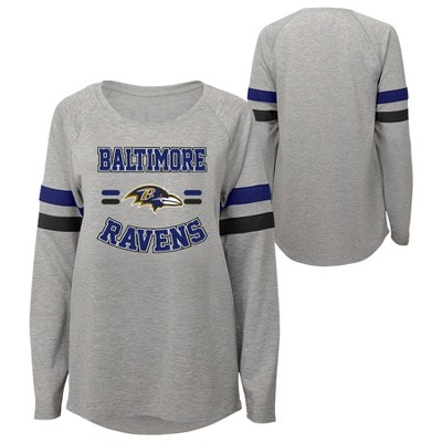 NFL Baltimore Ravens Girls' Long Sleeve Fashion T-Shirt