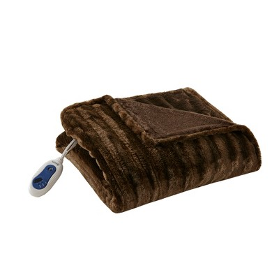 Electric Duke Faux Fur Throw - Beautyrest