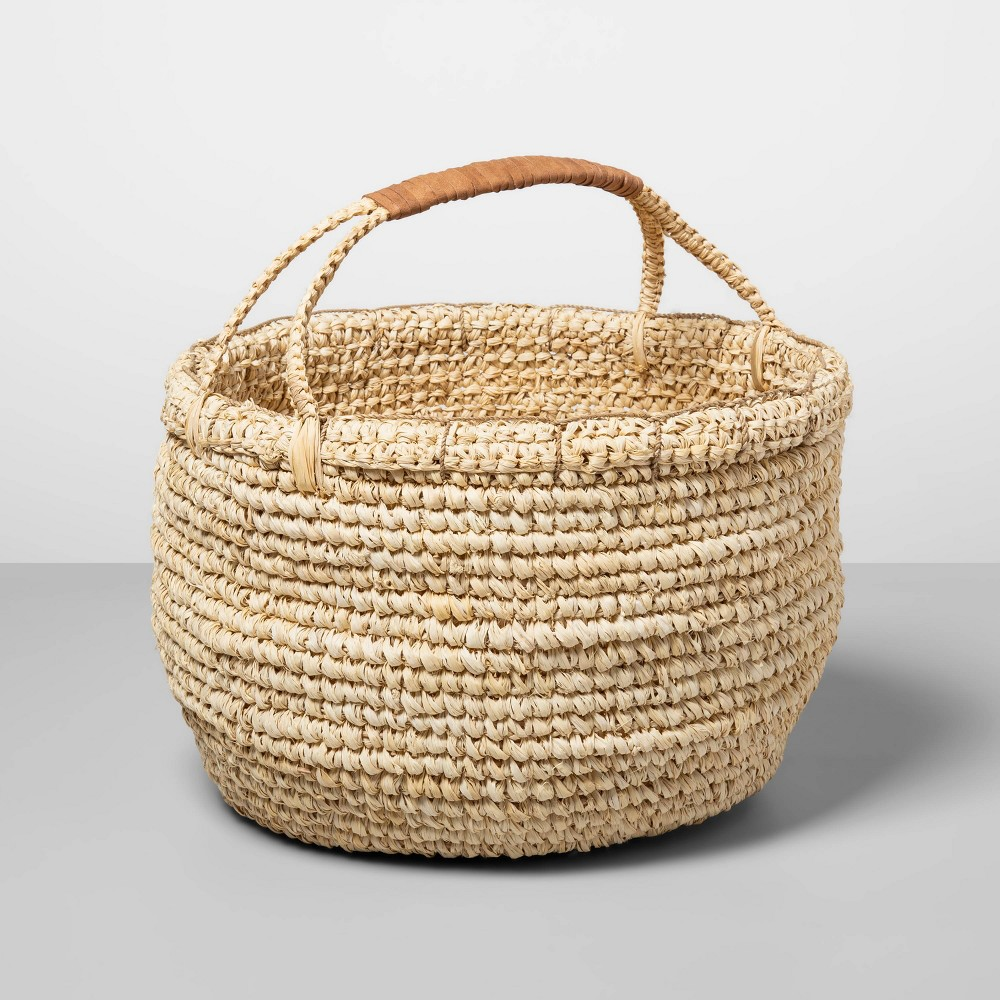 "Image of ""14.5"""" x 14.1"""" Sisal Basket with Handles Natural - Opalhouse , Beige"""