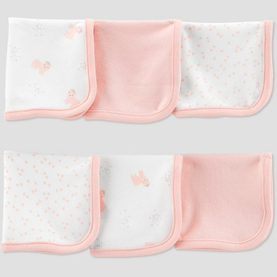 Baby Girls' Bear Washcloth Set - Just One You® made by carter's Pink/White
