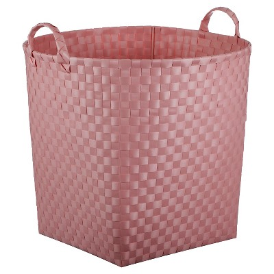 Woven Floor Bin Round Pink - Pillowfort™