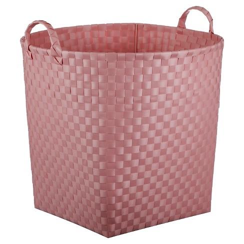 Woven Floor Bin Round Pink - Pillowfort™ - image 1 of 1