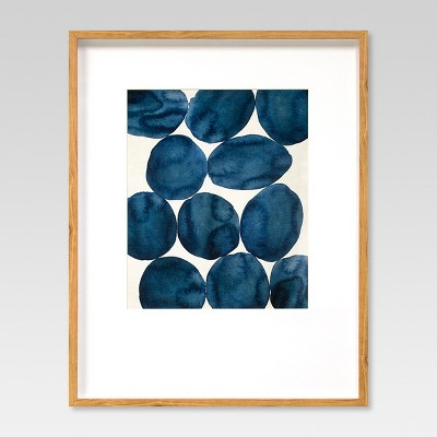 Framed Watercolor Abstract Blue 22 x28  - Project 62™