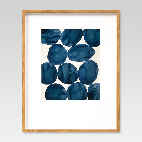 "Framed Watercolor Abstract Blue 22""x28"" - Project 62™ - image 1 of 4"