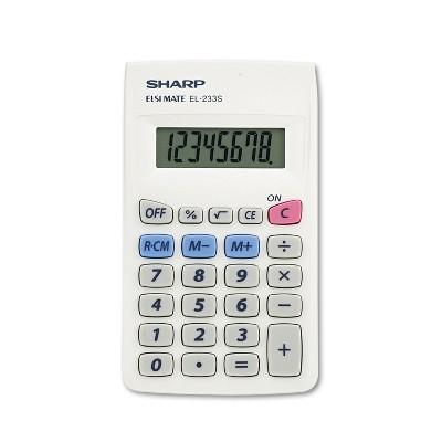 Sharp EL233SB Pocket Calculator 8-Digit LCD