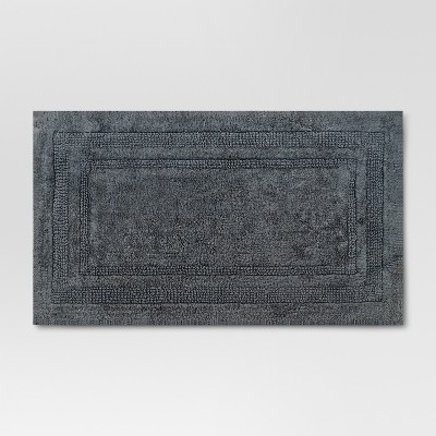 34 x20  Performance Cotton Bath Rug Dark Gray - Threshold™
