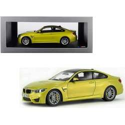 BMW M4 Coupe Austin Yellow with Carbon Top 1/18 Diecast Model Car by Paragon