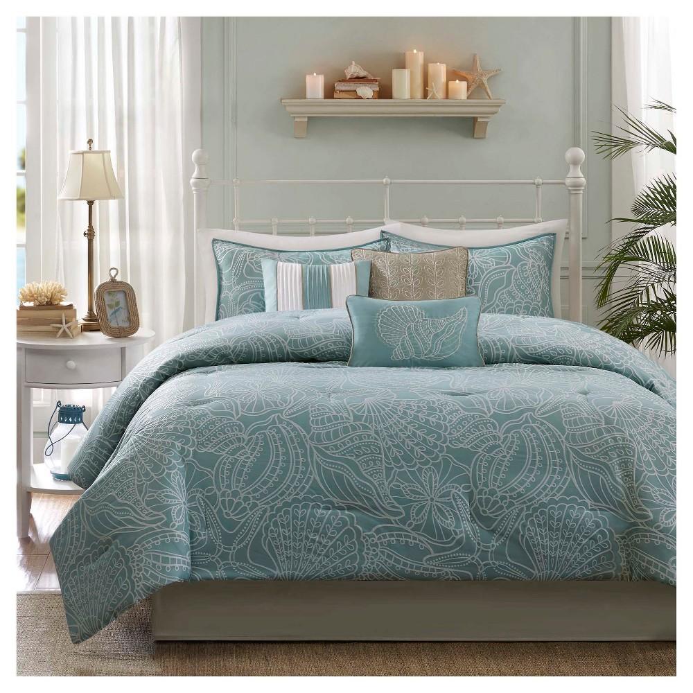 Cheap Soledad 7 Piece Comforter Set- Blue (Cal King)