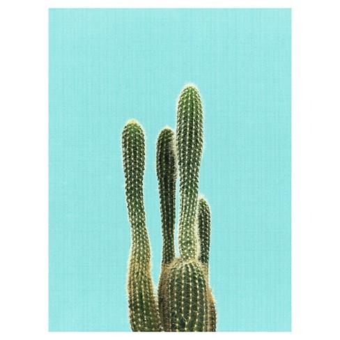 Cactus On Blue by LILA X LOLA Unframed Wall Art Print : Target