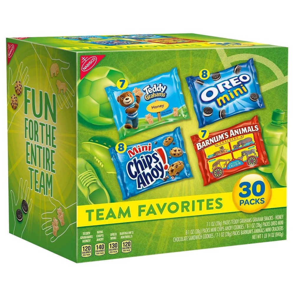 Nabisco Team Favorites Variety Pack - 30ct
