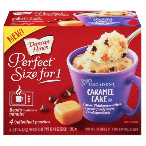 Duncan Hines Perfect Size for 1 Caramel Cake Mix - 10.44oz/4ct - image 1 of 1