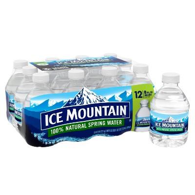 Ice Mountain Brand 100% Natural Spring Water - 12pk/8 fl oz Mini Bottles