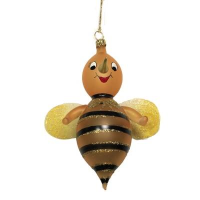 "Italian Ornaments 5.5"" Yellow Bee Ornament Italian Spring Flower  -  Tree Ornaments"