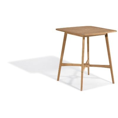"""Islay 36"""" Teak Square Patio Bar Table - Oxford Garden"""
