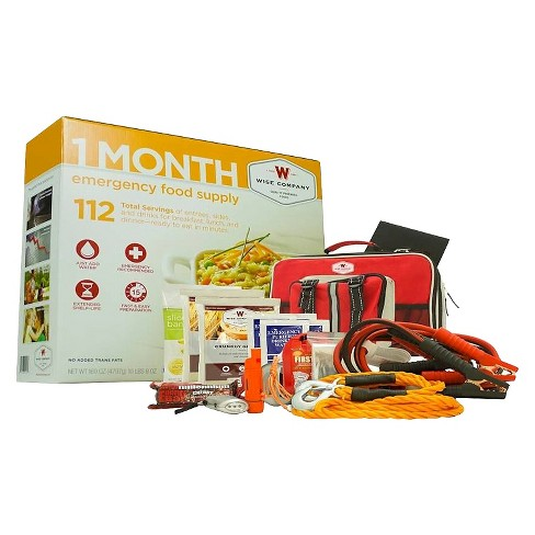 Wise Company 1 Month Emergency Food Supply and Auto Kit 169 oz - image 1 of 1