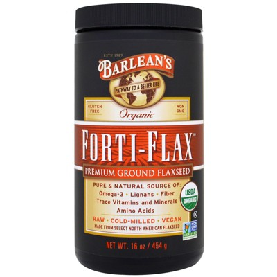 Barlean's Organic Forti-Flax, Premium Ground Flaxseed, 16 oz (454 g), Fiber Supplements