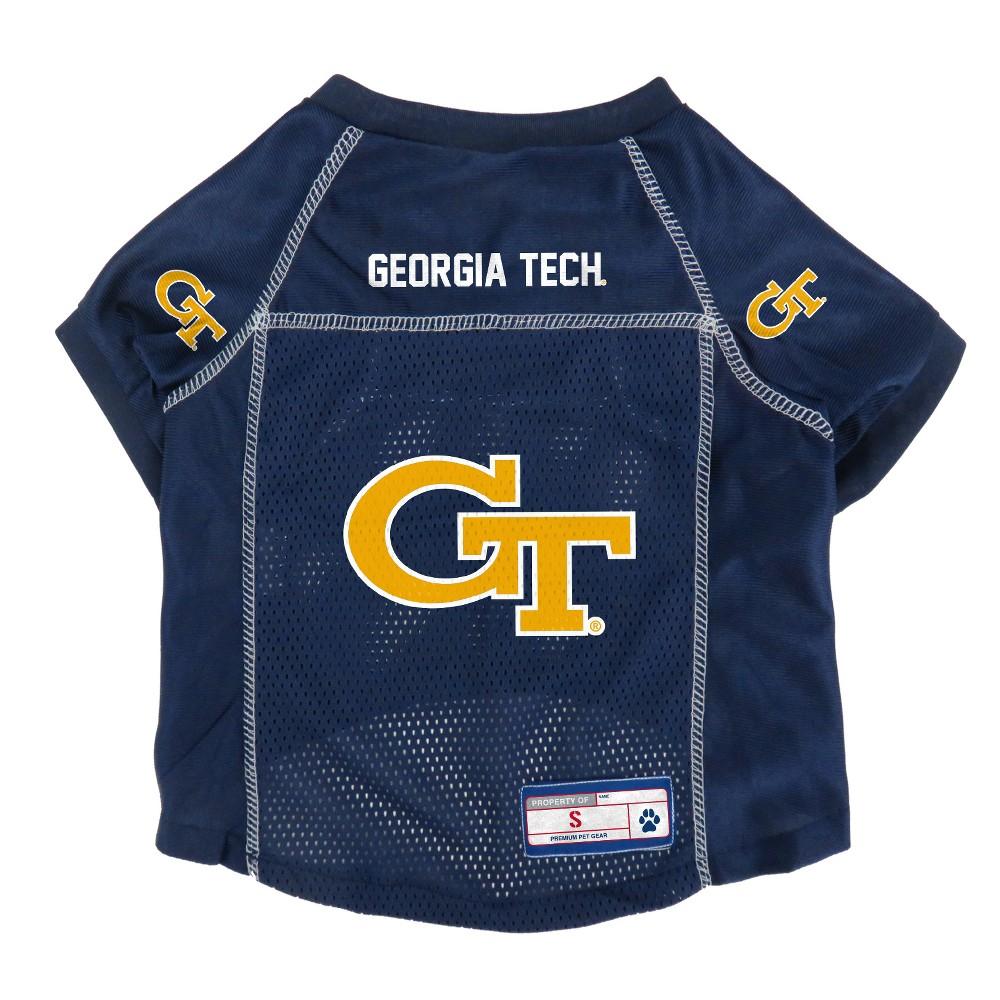 Georgia Tech Yellow Jackets Little Earth Pet Football Jersey - S, Multicolored
