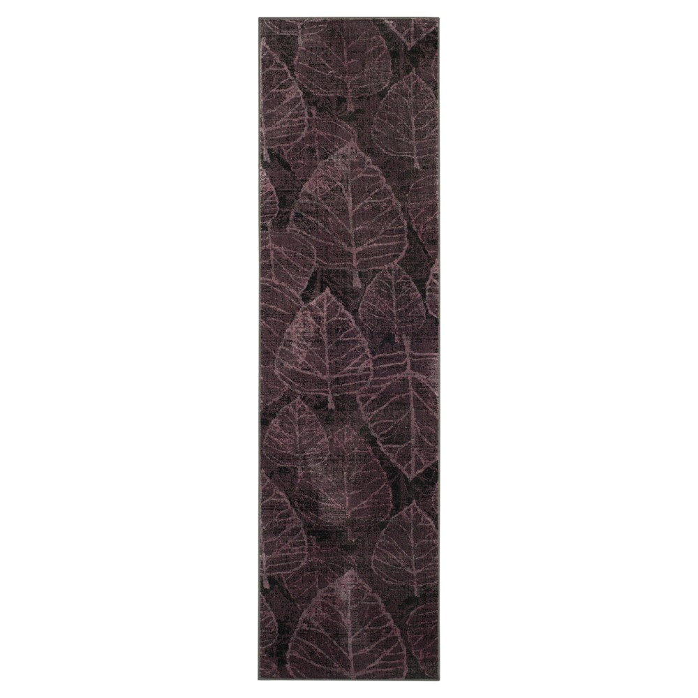 "Aziza Vintage Runner Charcoal / Multi ( 2' 2"" X 8' ) Safavieh"