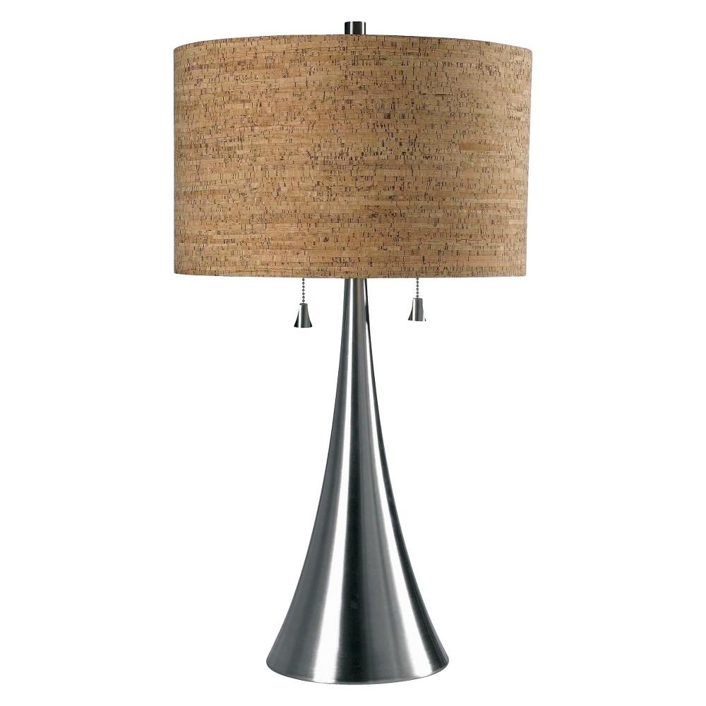 Image of Kenroy Home Brushed Steel Finish Bulletin Table Lamp