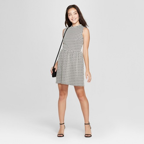 1ccd71ed7f12 Women s Sleeveless Knit Jacquard Dress - Xhilaration™ Black S   Target
