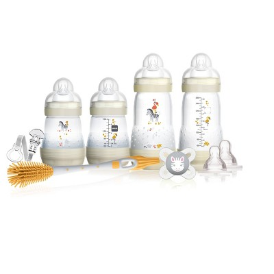 MAM Baby Bottle Gift Set Clear, 9ct