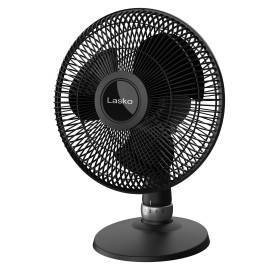 Lasko 12  Performance Oscillating Table Fan - Black