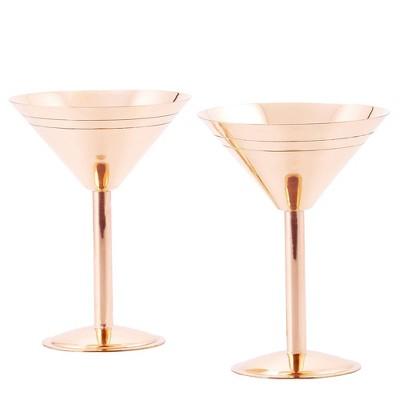 Old Dutch 9oz 2pk Copper Martini Glasses