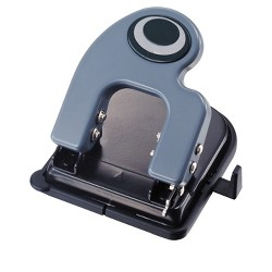 Officemate Eco Plastic Heavy Duty 2 Hole Punch with Paper Guide and Easy Access Chip Tray, 25 Sheets