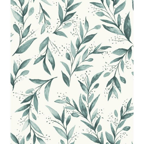 RoomMates Olive Branch Magnolia Home Wallpaper Green - image 1 of 2