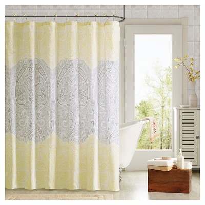 Shower Curtain And Hook Set - Yellow - (72X72 )