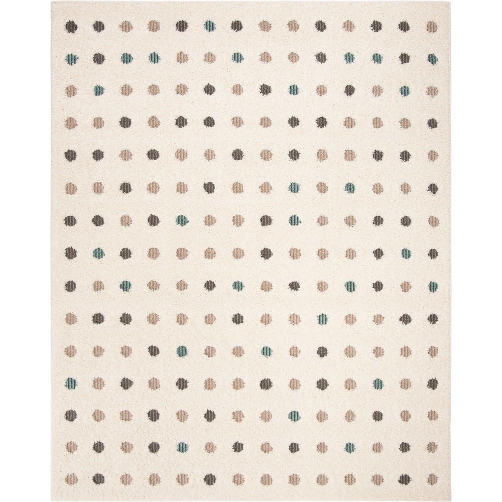 9'X12' Polka Dots Loomed Area Rug Cream - Safavieh, Beige
