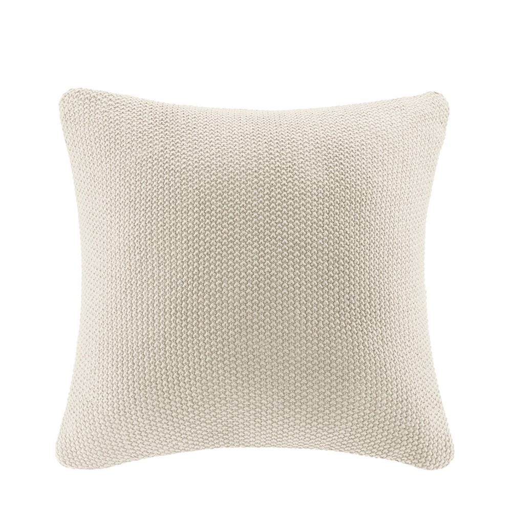 "Image of ""Bree Knit Throw Pillow Ivory, Size: 26""""x26"""""""