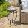 Han Ceramic Tile Side Table - Blue/White - Christopher Knight Home - image 2 of 4