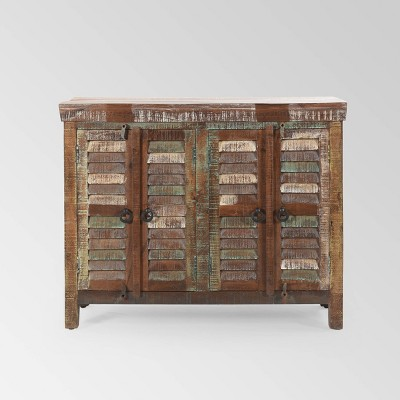Macalpin Reclaimed Wood Sideboard Cabinet Natural - Christopher Knight Home