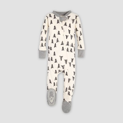 Burt's Bees Baby® Organic Cotton Trees Footed Pajama - Ivory 0-3M